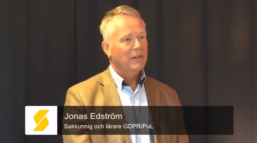 Se intervjuerna med Jonas Edström, expert på personuppgiftsbehandling